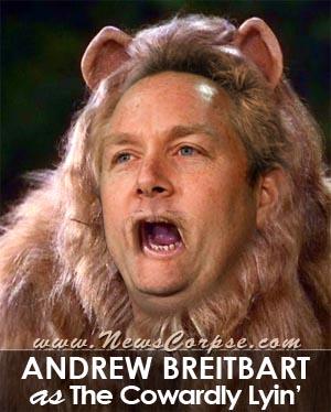 Cowardly Andrew Breitbart