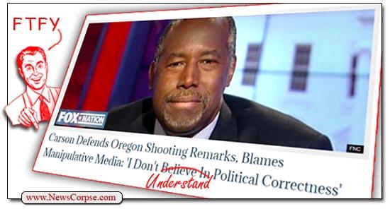 Ben Carson Politically Correct