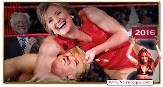 Clinton Trump fight