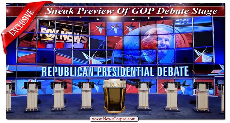GOP/Trump Debate Stage