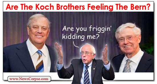 Koch Brothers Bernie Sanders