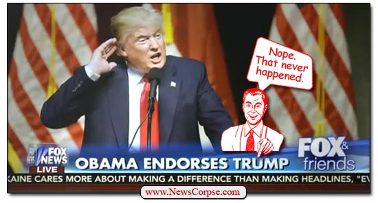 Obama Endorses Trump