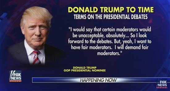 Trump debates