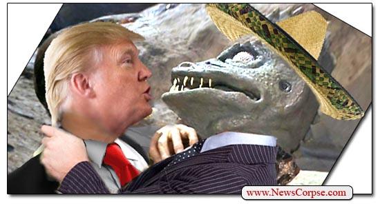 Trump Is Controlled by Aliens? Trump-lizard