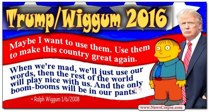 Donald Trump/Ralph Wiggum