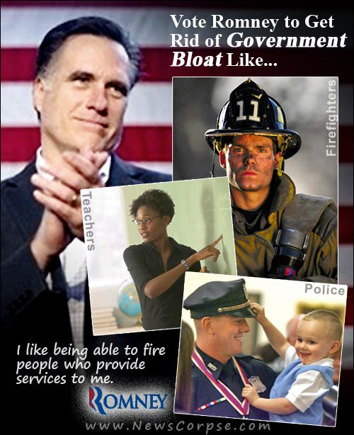 romney with brain on fire