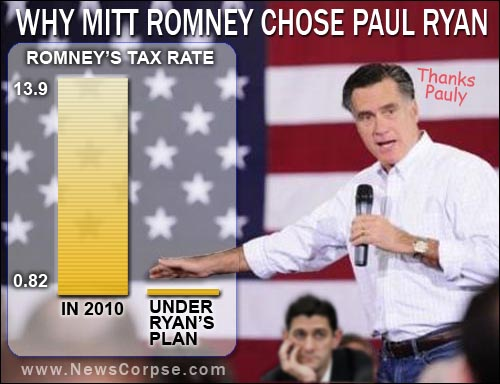 Romney's Taxes Under Ryan Plan