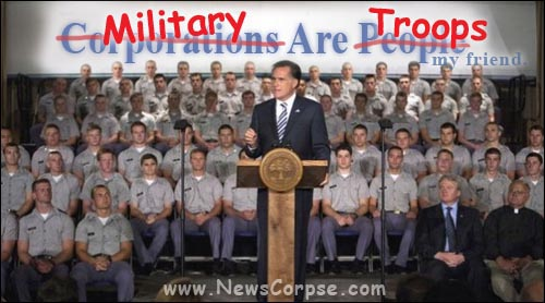 Mitt Romney and Troops
