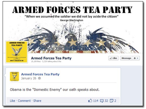 Armed Forces Tea Party