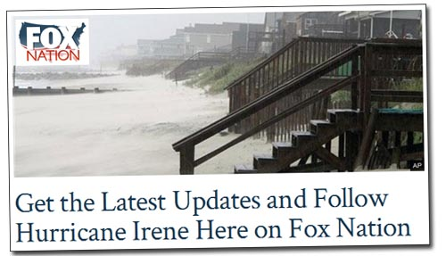 Fox Nation Hurricane Irene