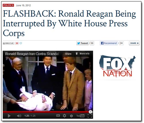 Fox Nation Reagan Interruptus