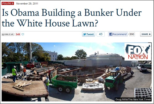 Is Obama Building A Bunker Under The White House Lawn
