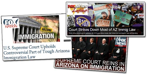 Fox News on Arizona Ruling