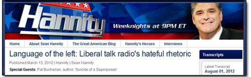 Sean Hannity Hate Talk