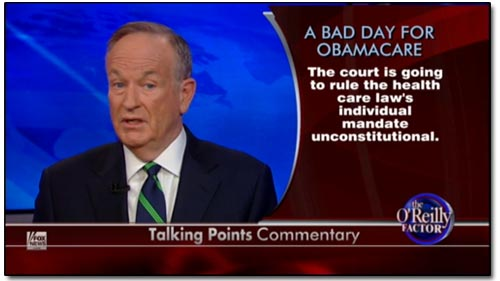 Bill O'Reilly on Obamacare