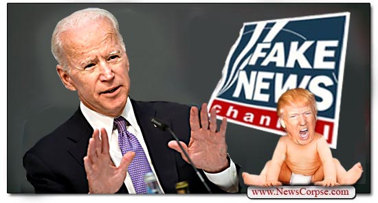 Joe Biden, Donald Trump Baby, Fake News