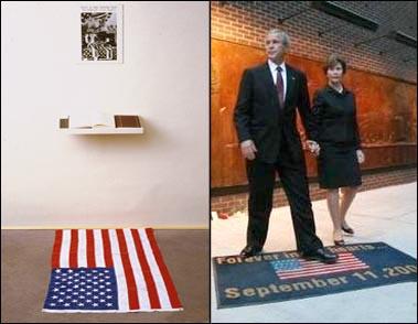 Bush Flag Desecration