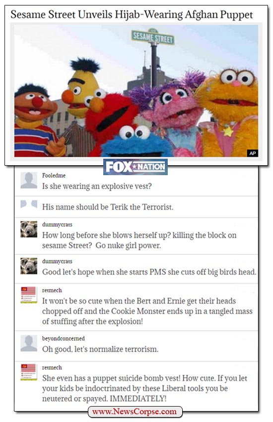 Fox Nation Sesame Street Comments