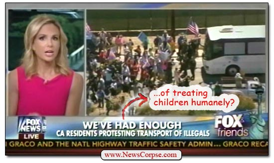 Fox News Children Bus Protest