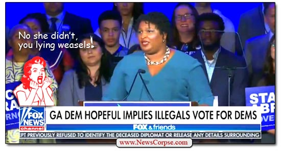 Fox News, Stacey Abrams