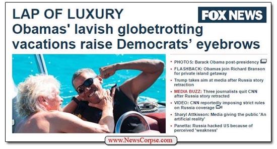Fox News Obama Luxury