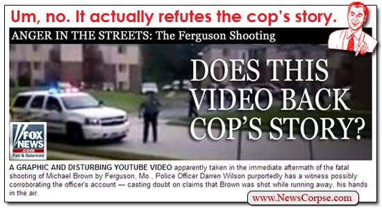 Fox News Video Backs Cop