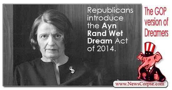 Ayn Rand Wet Dream Act