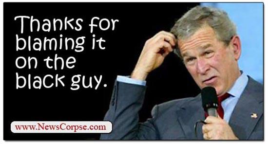 Bush Blame Obama