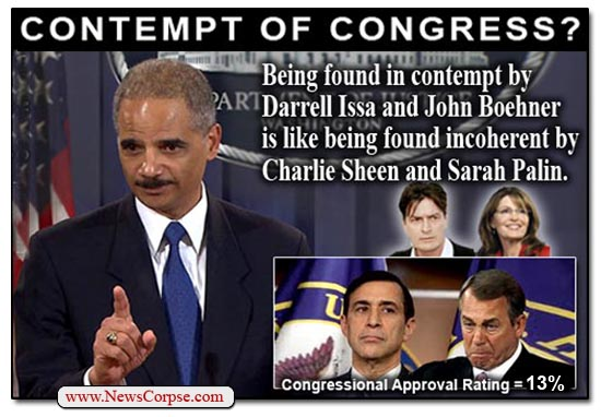 Eric Holder - Contempt for Congress