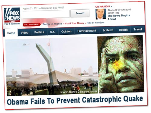 Fox News Obama Earthquake