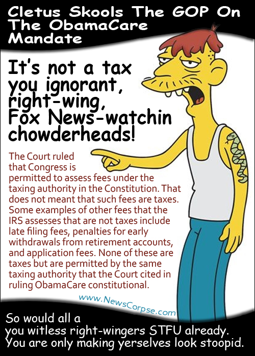 Cletus on ObamaCare