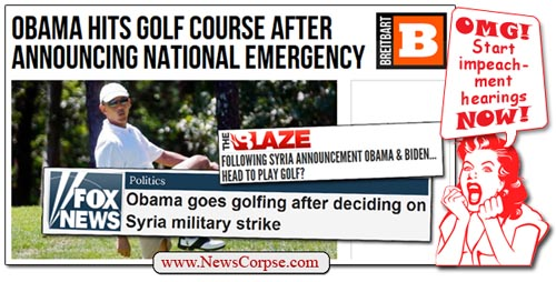 Breitbart Obama Golf