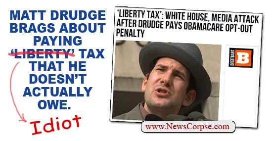 Drudge Idiot Tax
