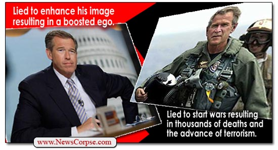 Brian Williams, George Bush