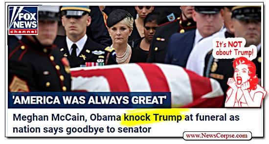 Fox News, John McCain Funeral, Donald Trump