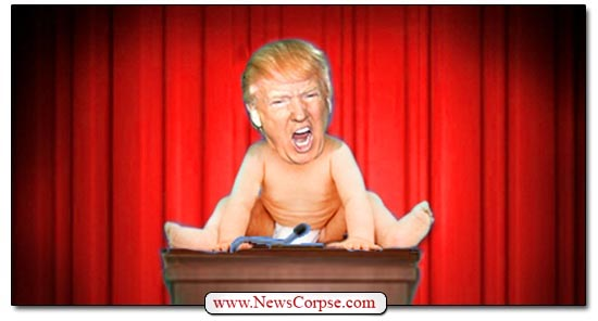 Donald Trump Baby at Podium