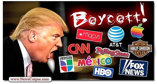 Donald Trump, Boycott