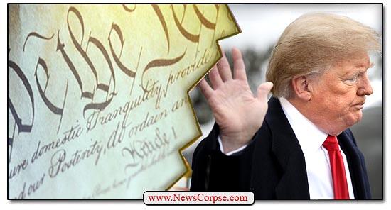 Donald Trump, Constitution