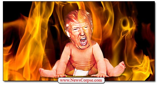 Flaming Trump