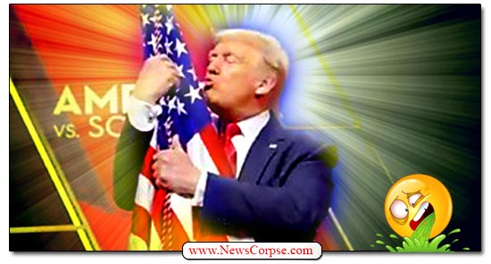Donald Trump Hugs Flag