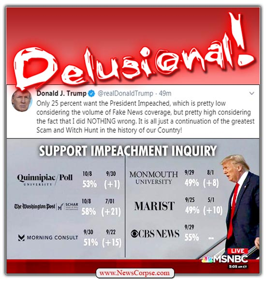 Trump Delusional Impeach Polls