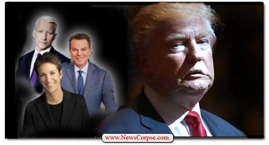 Donald Trump, Rachel Maddow, Shepard Smith, Anderson Cooper