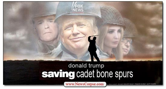 Donald Trump, Saving Cadet Bone Spurs