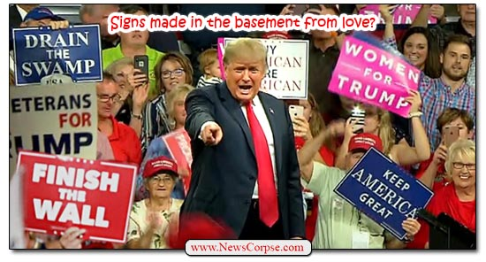 Donald Trump, Rally Signs
