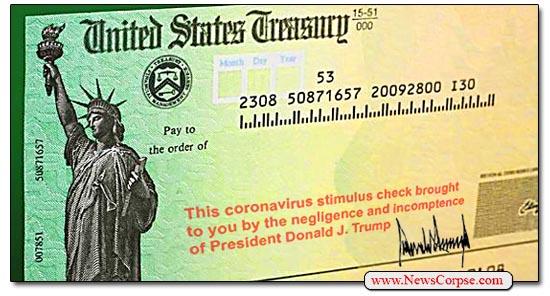 Donald Trump, Stimulus Check
