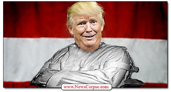 Donald Trump, Insane, Straight Jacket