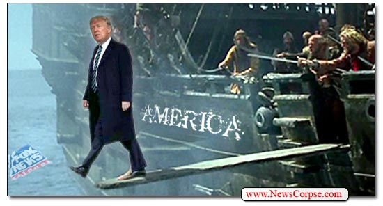 Donald Trump Walking the Plank