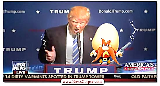 Donald Trump, Yosemite Sam, Guns