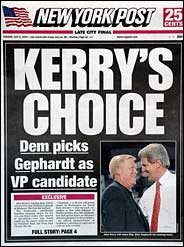 New York Post Kerry Gephardt