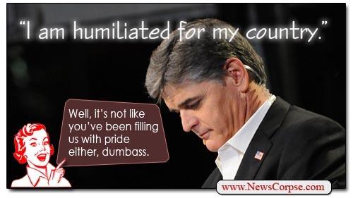 Sean Hannity Dumbass